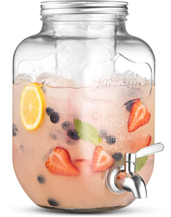 1 Gallon Glass Beverage Dispenser