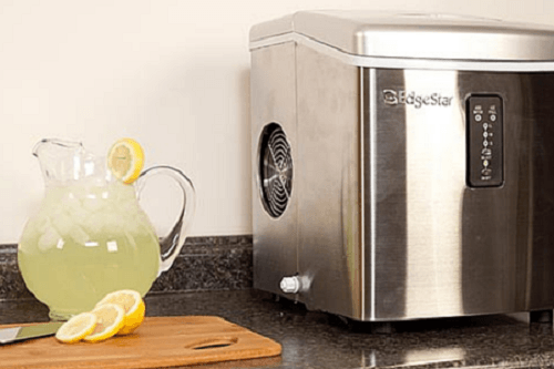 Ice Maker And Lemonade On A Counter