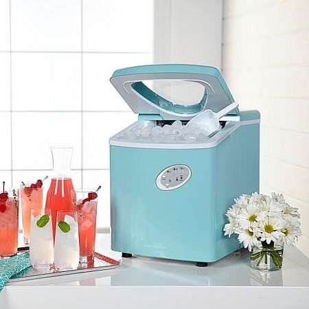Blue Portable Ice Machine
