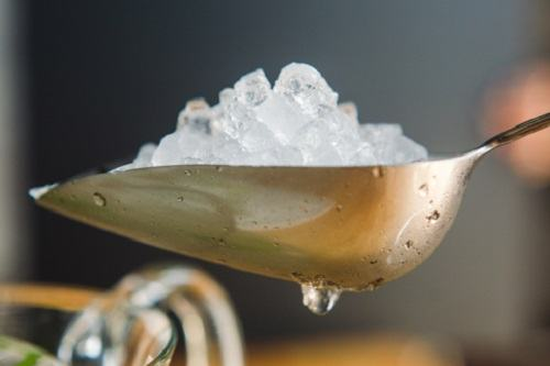 Single Spoon With Ice