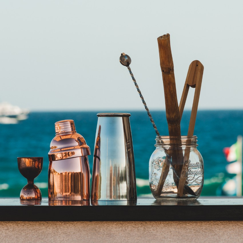 Bartender Kit Isolated on Sea View