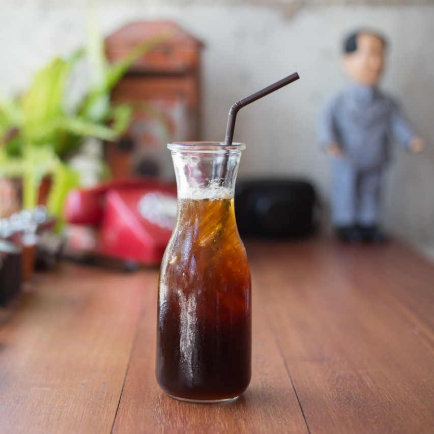 Bottle with a Cold Brew Coffee