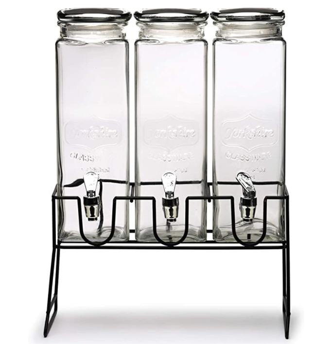 Circleware Triple XL Chalkboard Beverage Dispensers