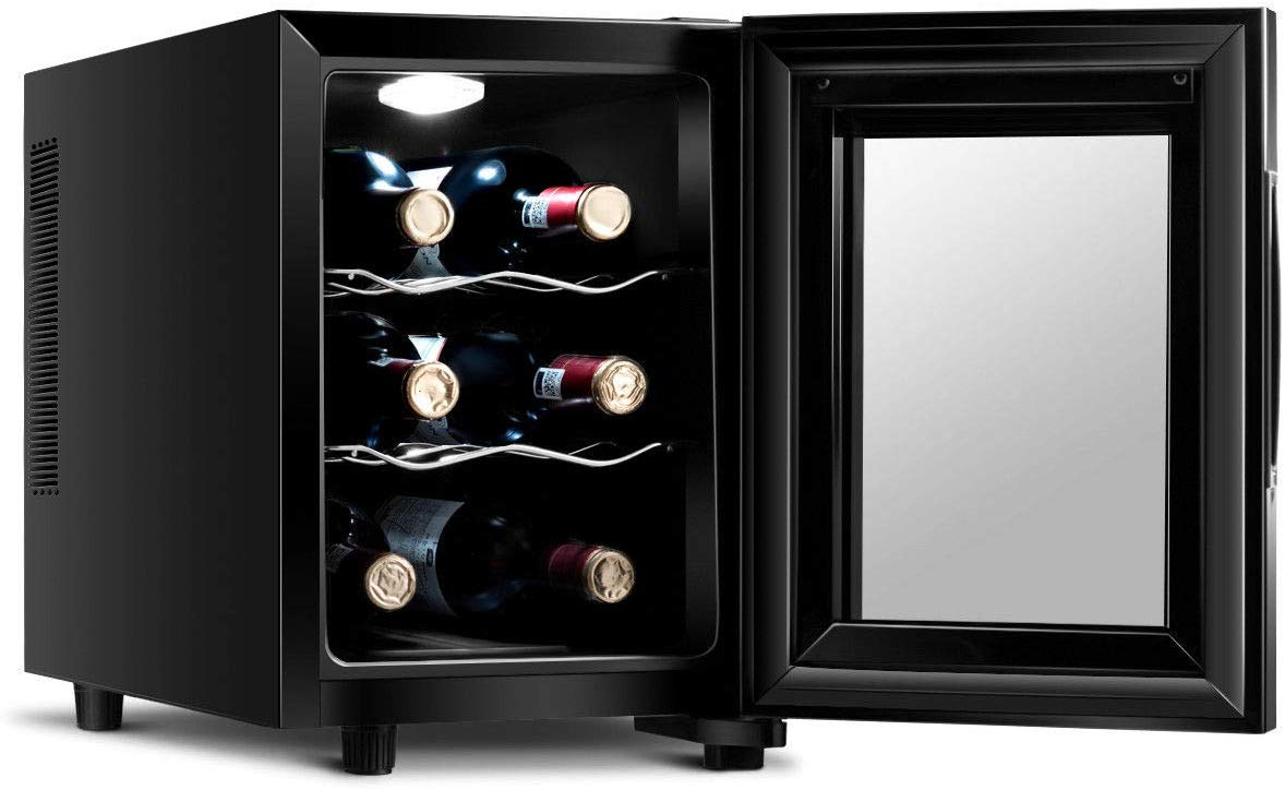 Costway Thermoelectric Wine Cooler Freestanding Cellar Chiller