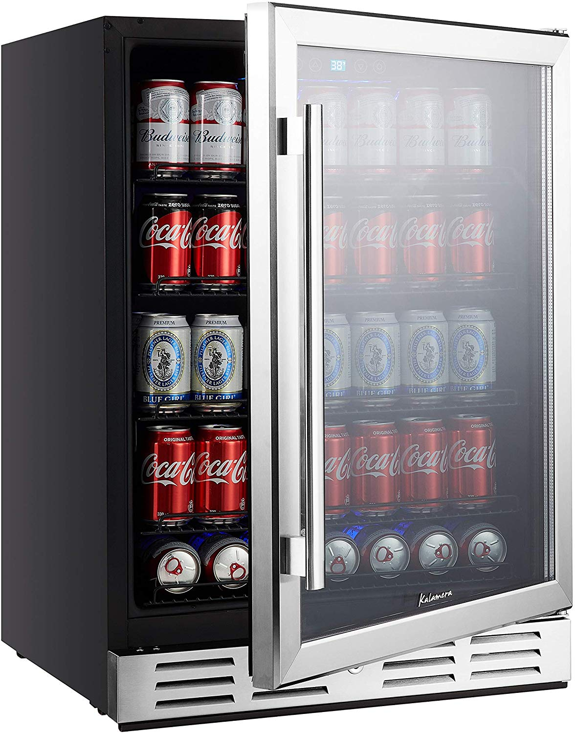 Kalamera Beverage Cooler and Fridge - Fit Perfectly into 24 inch Space Under Counter or Freestanding