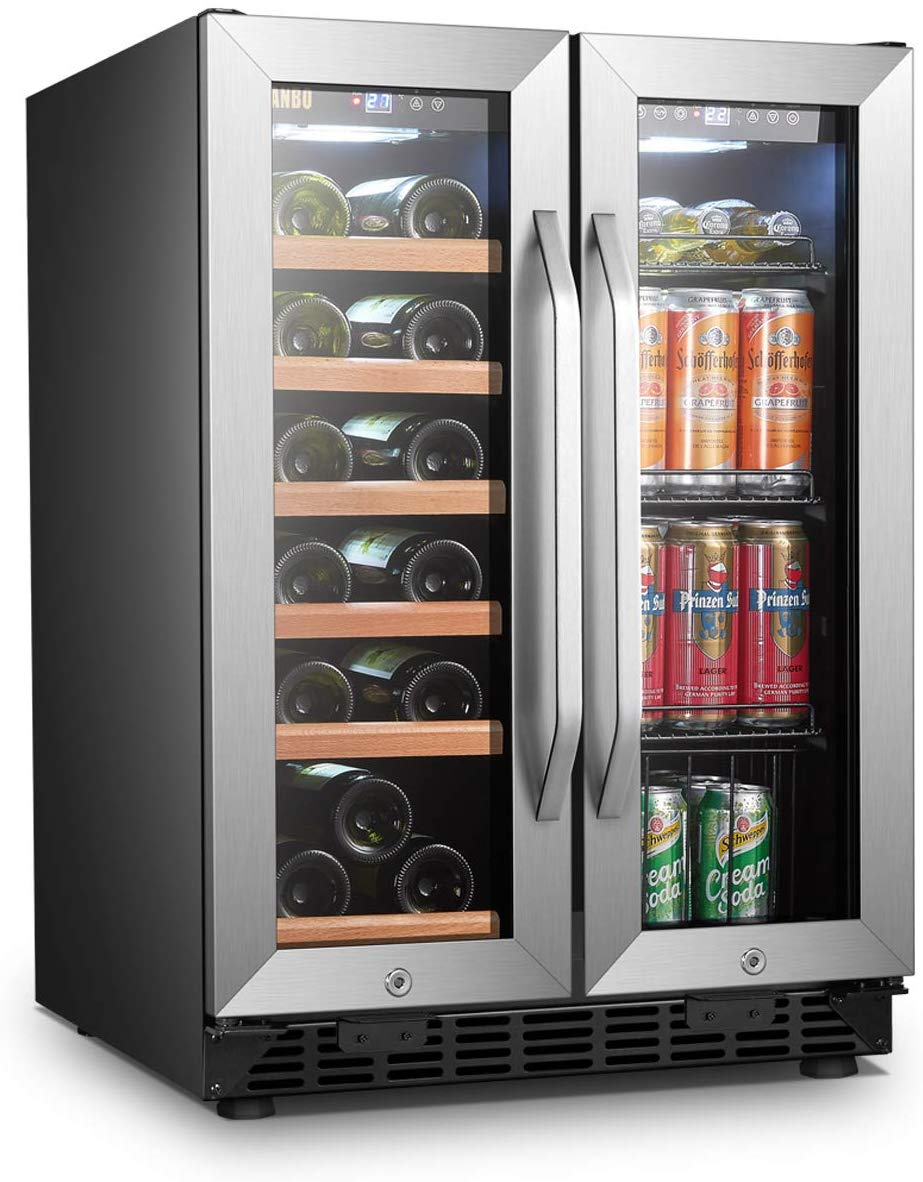 Lanbo Wine and Beverage Refrigerator, Compact Built-in Wine and Drink Center