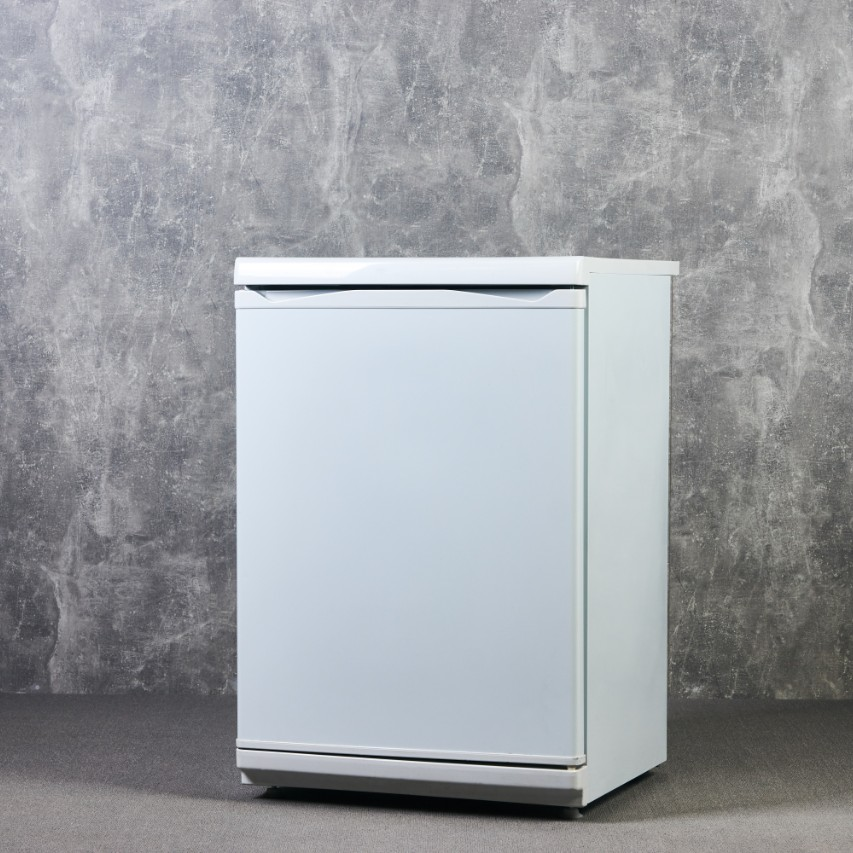 Mini Fridge Isolated on Grey
