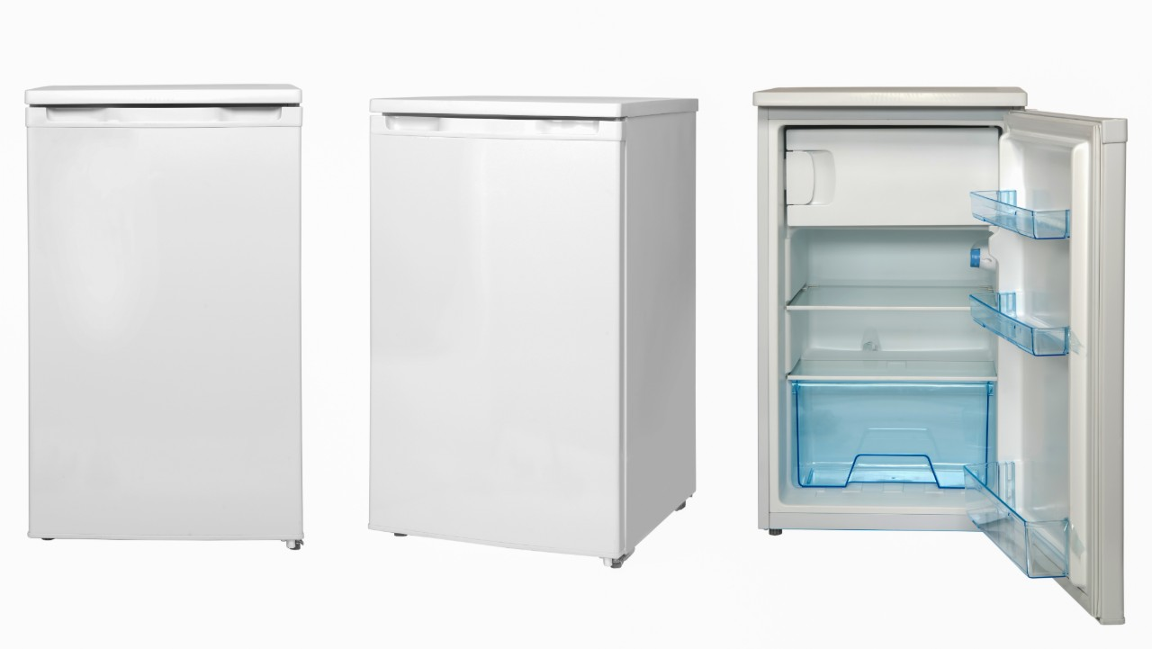 Mini Fridge Isolated on White Backgound