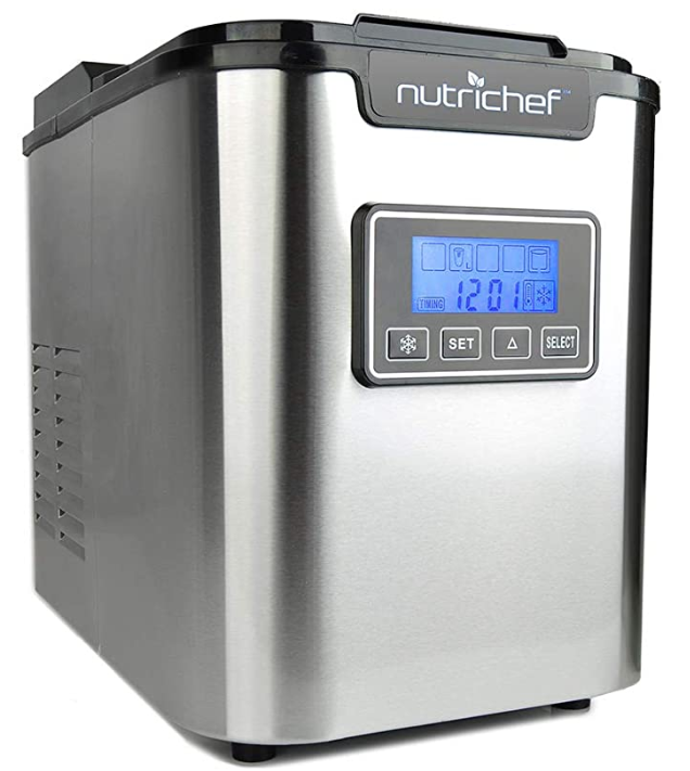 NutriChef Countertop Ice Maker - Portable Ice Cube Machine