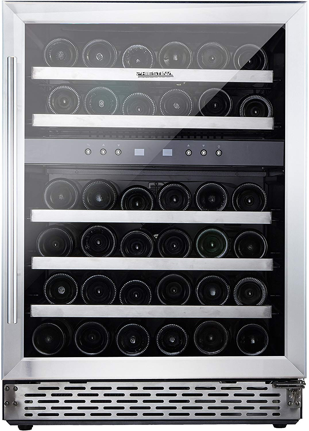 Phiestina 46 Bottle Wine cooler 24 Inch Dual Zone
