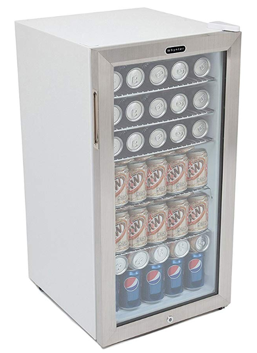 Whynter BR-128WS Lock, 120 Can Capacity, Stainless Steel Beverage Refrigerator