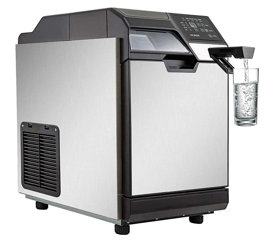 vbenlem 2 in 1 commercial ice maker with water dispenser