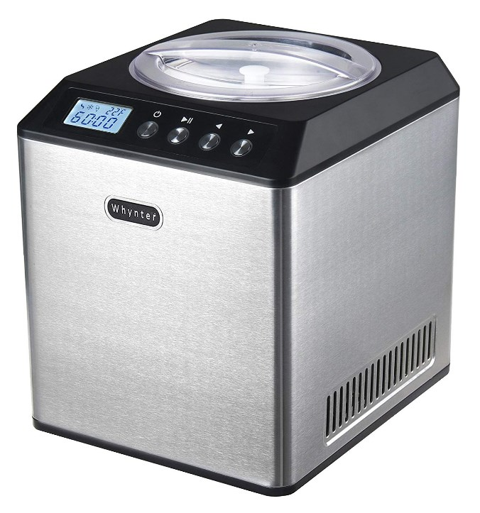 whynter icm 201sb upright stainless steel ice cream maker